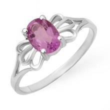 Natural 0.75 ctw Amethyst Ring 10K White Gold - 12420-#9T2Z