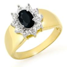 Genuine 0.65 ctw Blue Sapphire Ring 10K Yellow Gold - 12647-#15V2A