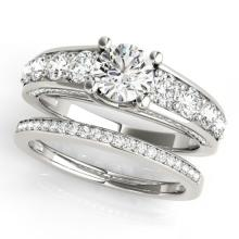 2.75 CTW Certified VS/SI Diamond 2pc Set Solitaire Wedding  14K Gold - REF#-481F8V - 32096