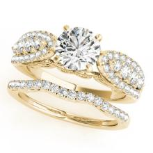 2.26 CTW Certified VS/SI Diamond Solitaire 2pc Wedding Set  14K Gold - REF#-487M3R - 31909
