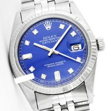 Rolex Men's Stainless Steel, QuickSet, Diamond Dial Fluted Bezel - REF#321R8X
