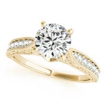 1.21 CTW Certified VS/SI Diamond Solitaire Bridal Ring 18K Yellow Gold - REF#-376M7F - 27359