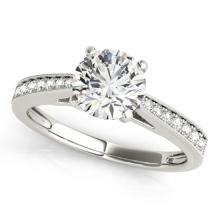 1.25 CTW Certified VS/SI Diamond Solitaire Bridal Ring 18K White Gold Gold - REF#-367X8T - 27618