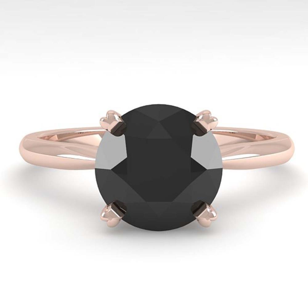 2.0 ctw Black Diamond Ring 14K Rose Gold - REF-63R2K - SKU:38475