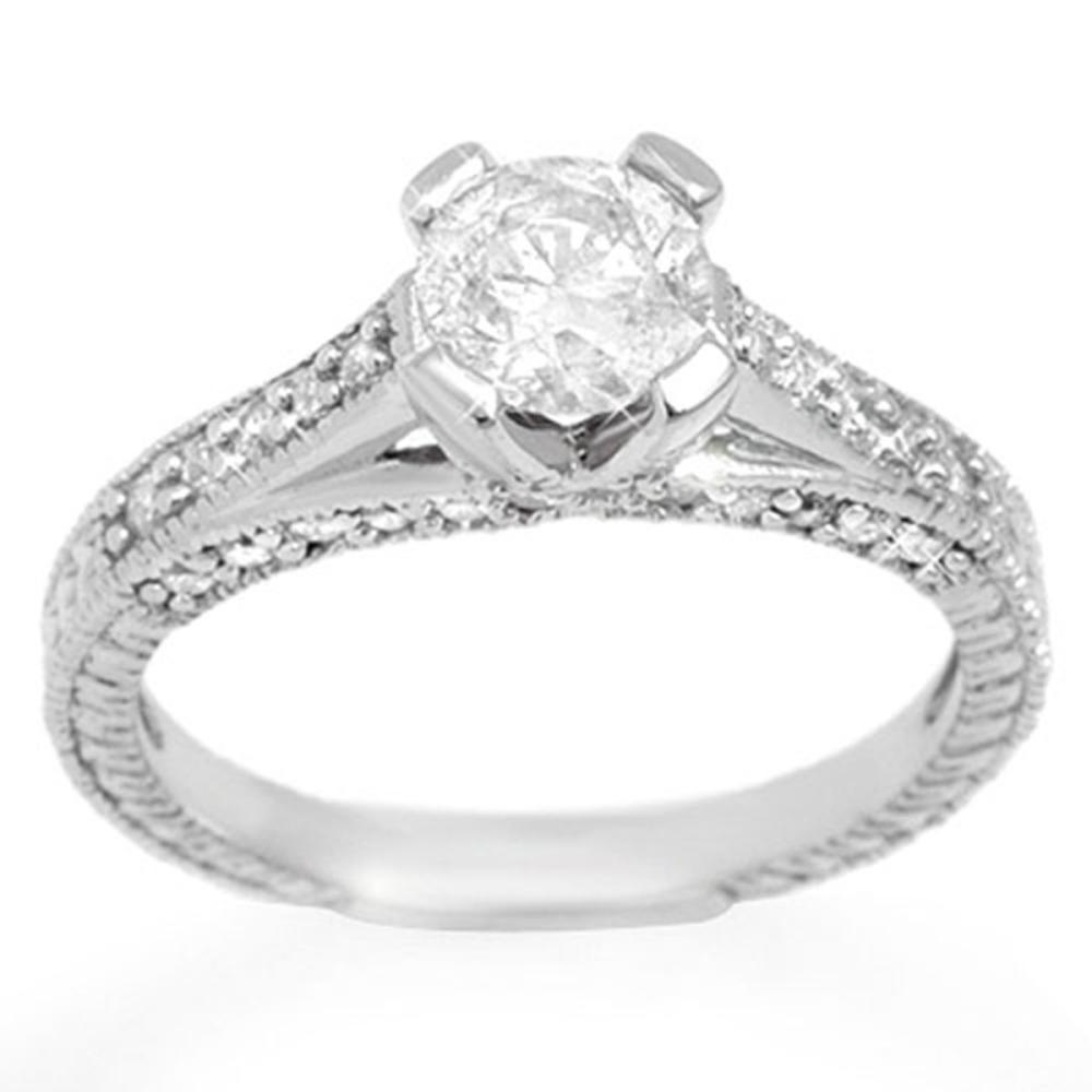 1.50 ctw VS/SI Diamond Ring 18K White Gold - REF-285K2W - SKU:11444