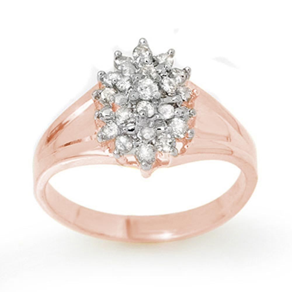 0.25 ctw VS/SI Diamond Ring 18K Rose Gold - REF-41H3M - SKU:13393
