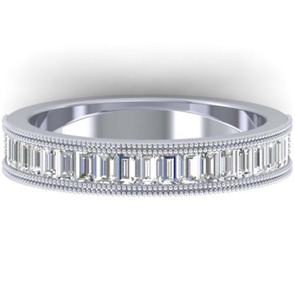 1 ctw Baguette VS/SI Diamond Art Deco Eternity Band 14K White Gold - REF-107H3M - SKU:30315