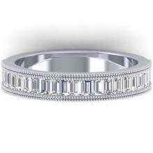 Lot 6047: 1 ctw Baguette VS/SI Diamond Art Deco Eternity Band 14K White Gold - REF-107H3M - SKU:30315