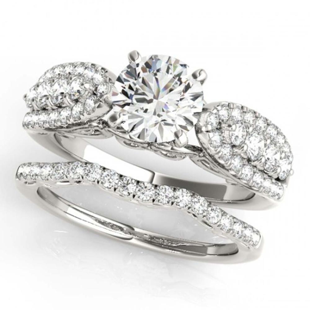 1.96 ctw VS/SI Diamond 2pc Wedding Set 14K White Gold - REF-317V3Y - SKU:31904