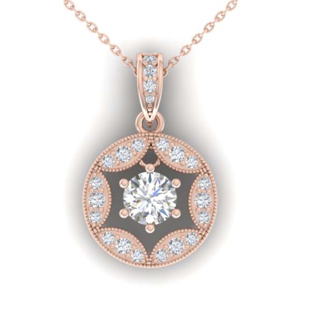 1.50 ctw VS/SI Diamond Art Deco Stud Necklace 14K Rose Gold - REF-317H9M - SKU:30454