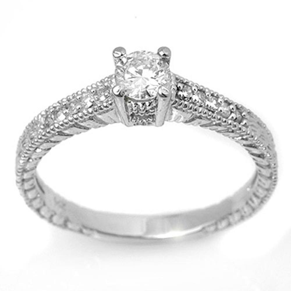 0.70 ctw VS/SI Diamond Solitaire Ring 18K White Gold - REF-91K8W - SKU:13617