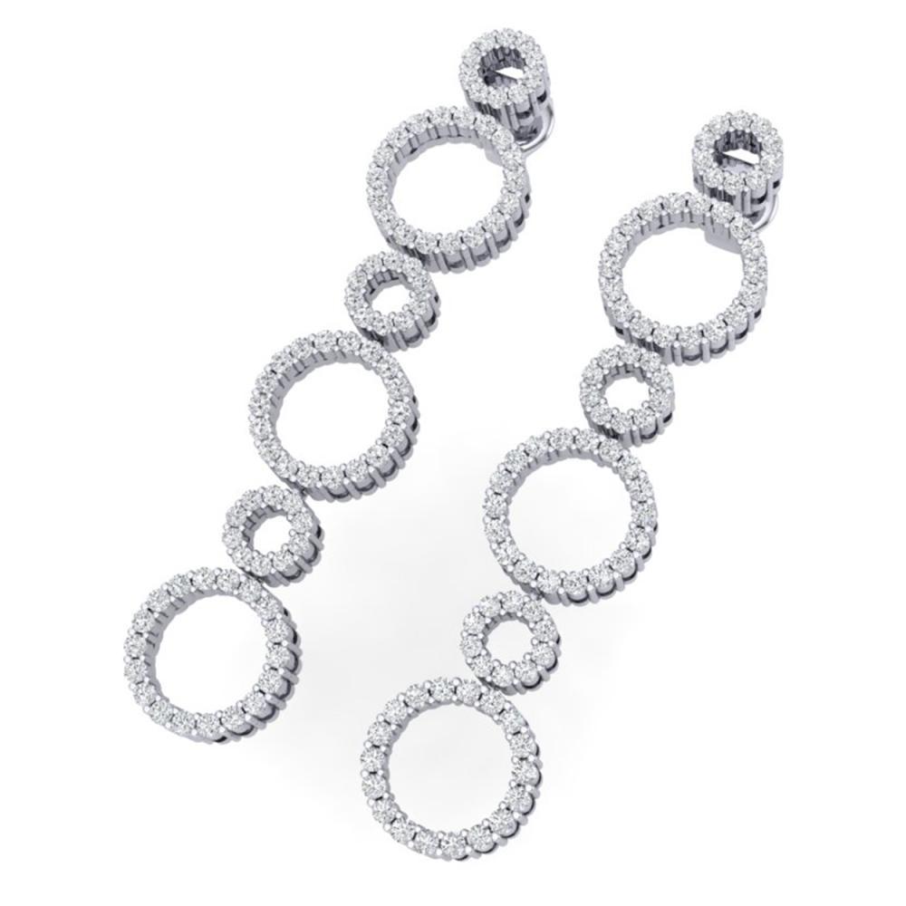 1.50 ctw SI/I Diamond Halo Earrings 18K White Gold - REF-139A2V - SKU:40181