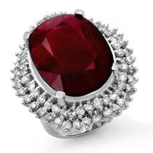 Lot 6074: 31.12 ctw Ruby & Diamond Ring 18K White Gold - REF-353Y3X - SKU:14318