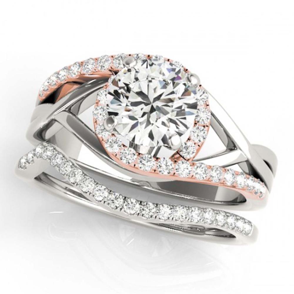 1.75 ctw VS/SI Diamond Bypass Wedding 14K White & Rose Gold - REF-391M2F - SKU:31792