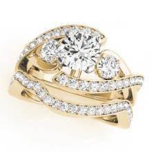 Lot 6079: 2.54 ctw VS/SI Diamond Bypass 2pc Wedding Set 14K Yellow Gold - REF-554X2R - SKU:31783