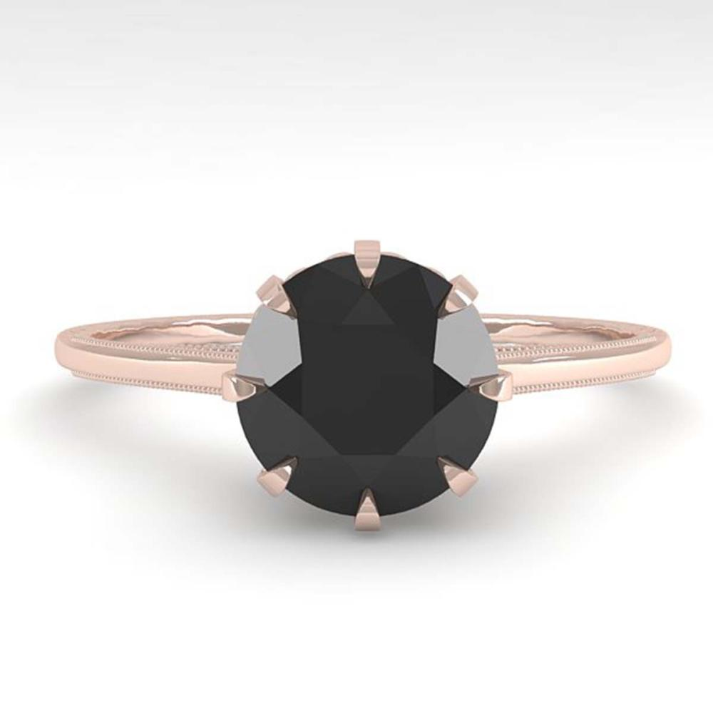 1.50 ctw Black Diamond Ring 18K Rose Gold - REF-66W2H - SKU:35762