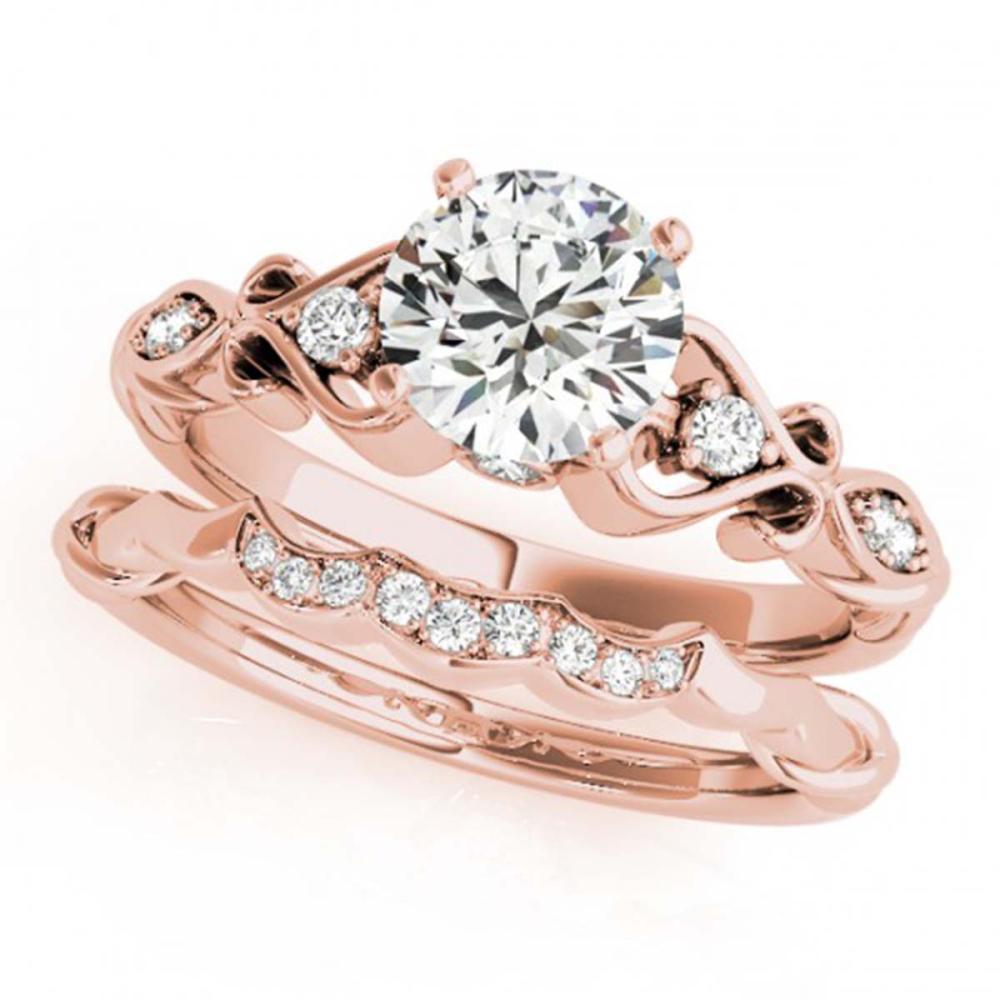 0.72 ctw VS/SI Diamond 2pc Wedding Set 14K Rose Gold - REF-106A4V - SKU:31566