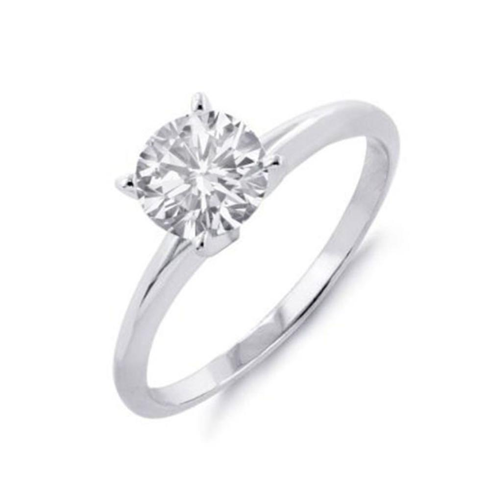 Lot 6103: 0.25 ctw VS/SI Diamond Solitaire Ring 18K White Gold - REF-40H4M - SKU:11939