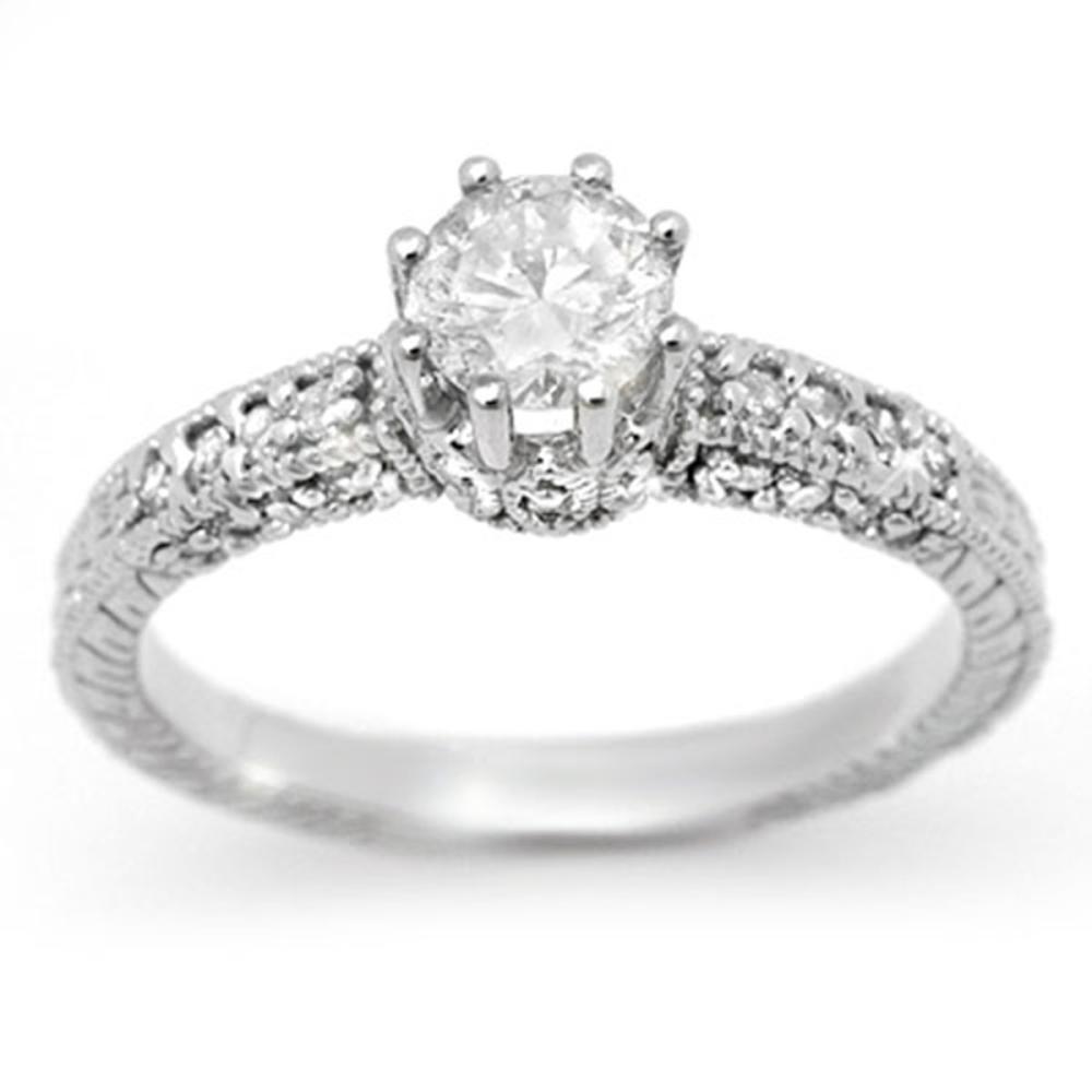 1.0 ctw VS/SI Diamond Solitaire Ring 18K White Gold - REF-129V3Y - SKU:13701