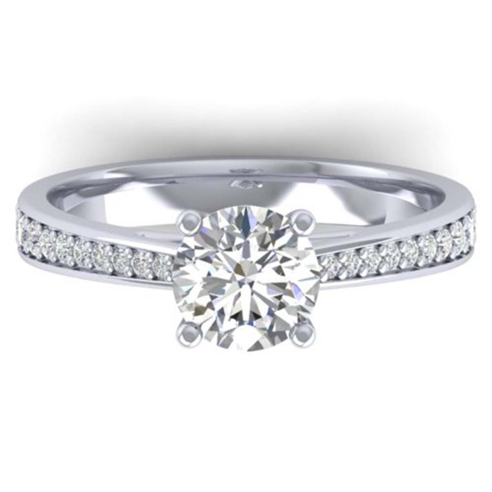 1.26 ctw VS/SI Diamond Art Deco Ring 14K White Gold - REF-308H4M - SKU:30384