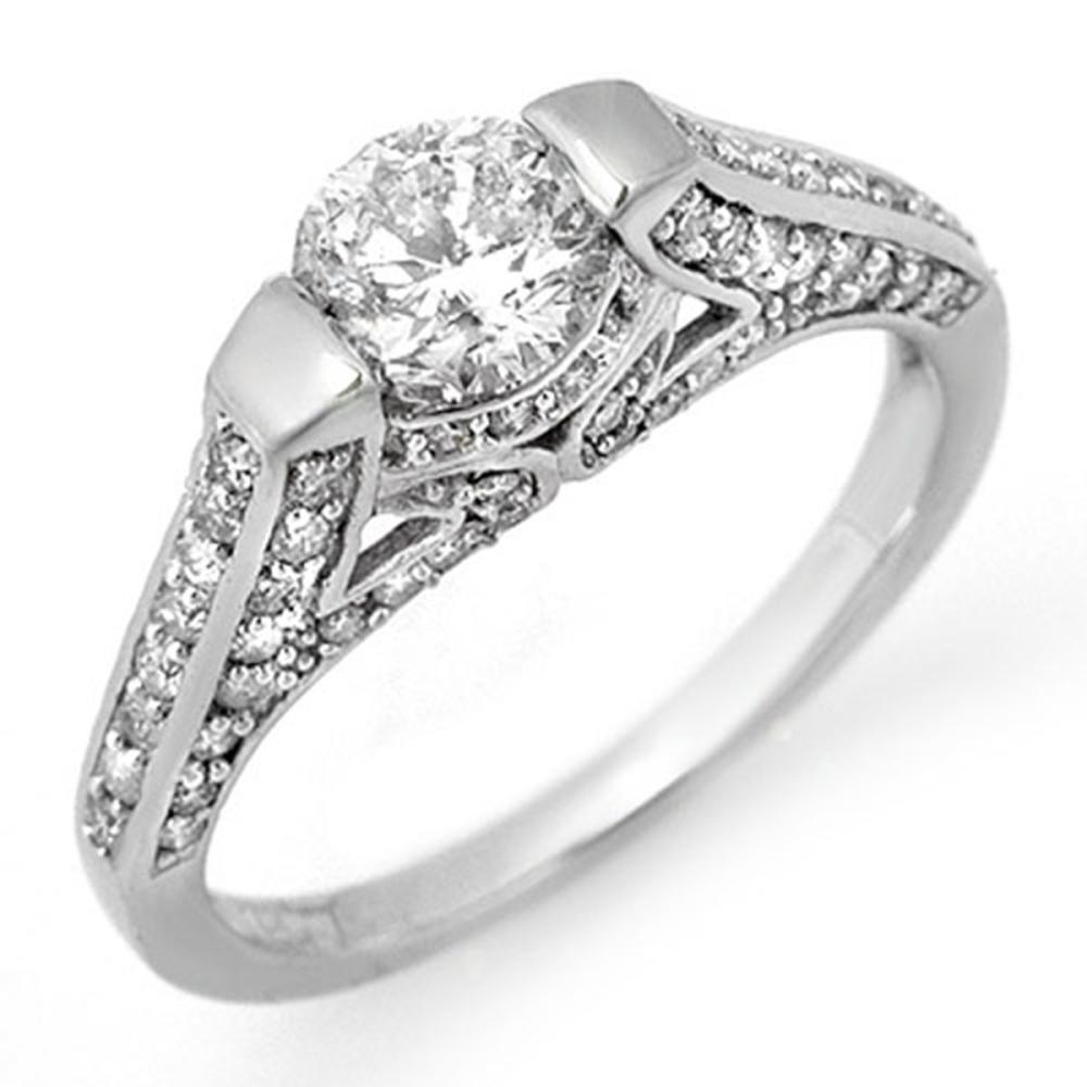 1.42 ctw VS/SI Diamond Ring 18K White Gold - REF-198A7V - SKU:11256
