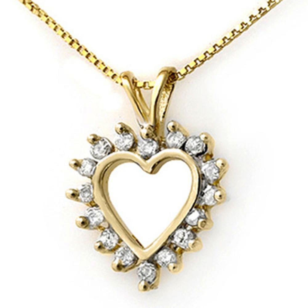 0.50 ctw VS/SI Diamond Pendant 14K Yellow Gold - REF-39A3V - SKU:13311
