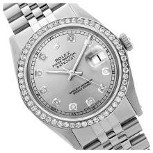 Lot 6111: Rolex Ladies Stainless Steel, Diamond Dial & Diamond Bezel, Sapphire Crystal - REF-426X2Y