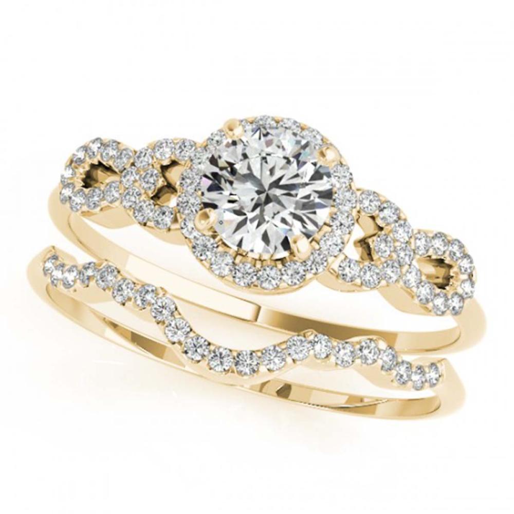 1.43 ctw VS/SI Diamond 2pc Wedding Set 14K Yellow Gold - REF-279R3K - SKU:31996