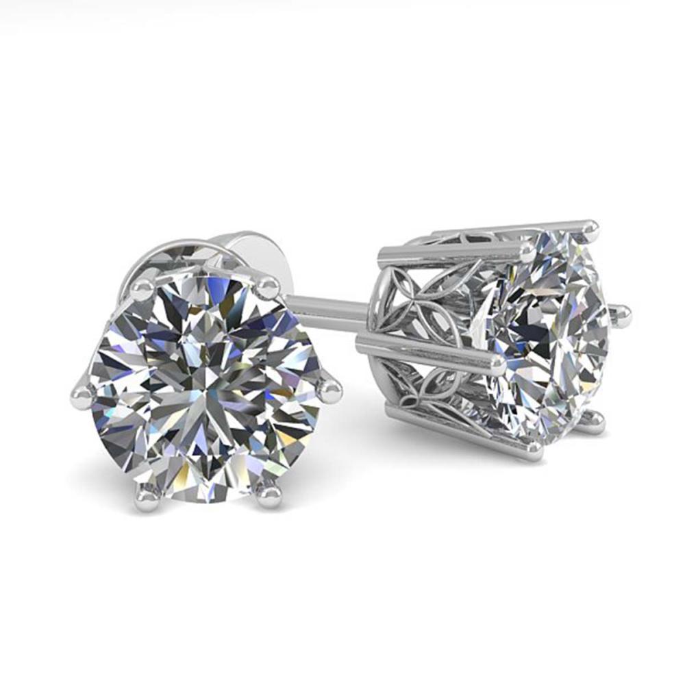 1.50 ctw VS/SI Diamond Stud Earrings 18K White Gold - REF-246F5N - SKU:35838