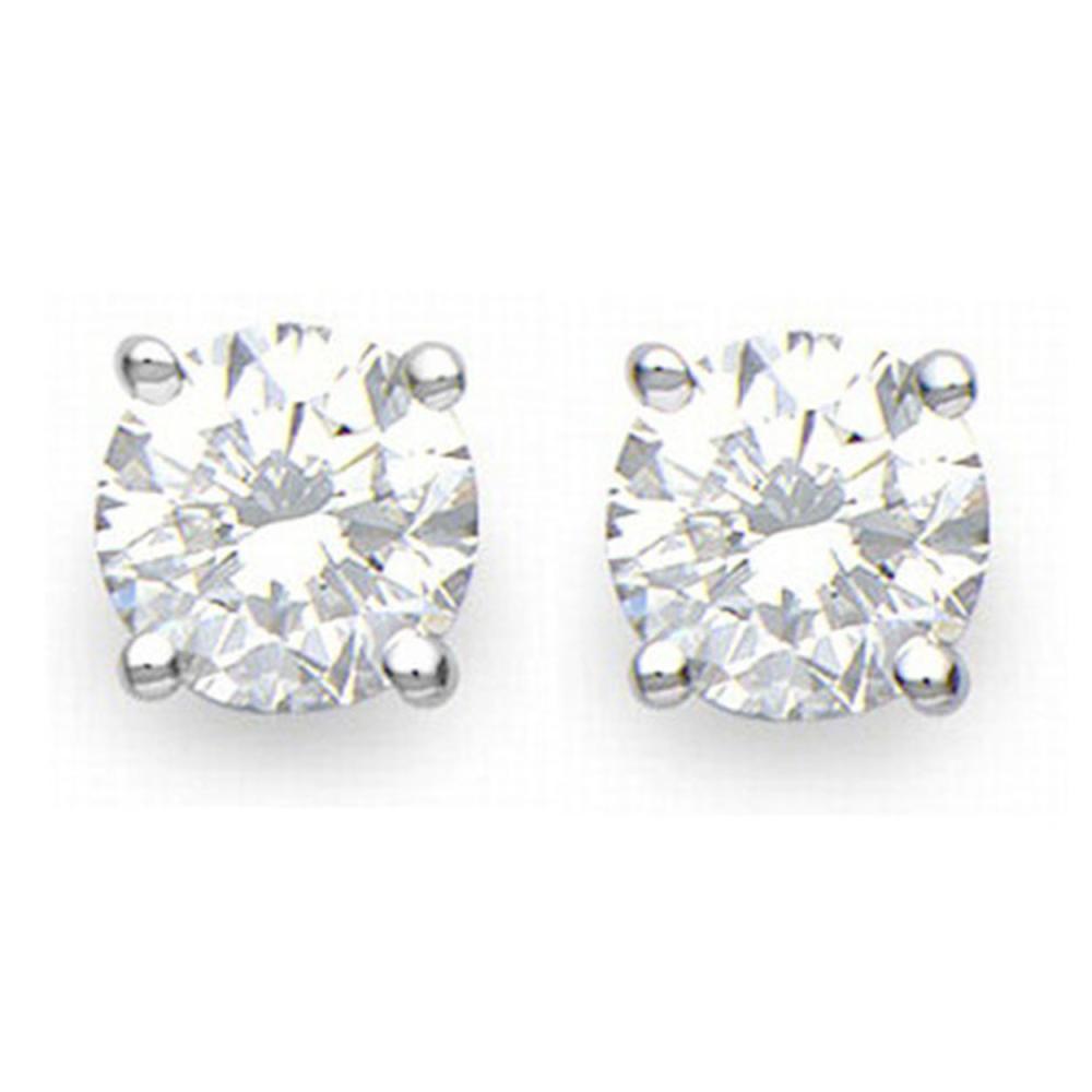 1.0 ctw VS/SI Diamond Stud Earrings 18K White Gold - REF-117M2F - SKU:13535