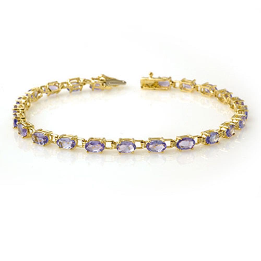 5.0 ctw Tanzanite Bracelet 10K Yellow Gold - REF-69V3Y - SKU:13455