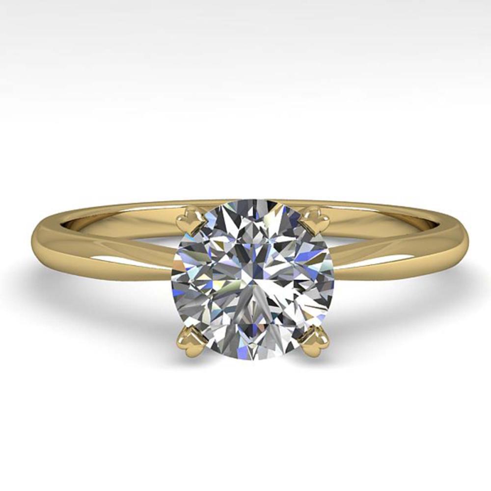 1.01 ctw VS/SI Diamond Ring 14K Yellow Gold - REF-274V8Y - SKU:30605