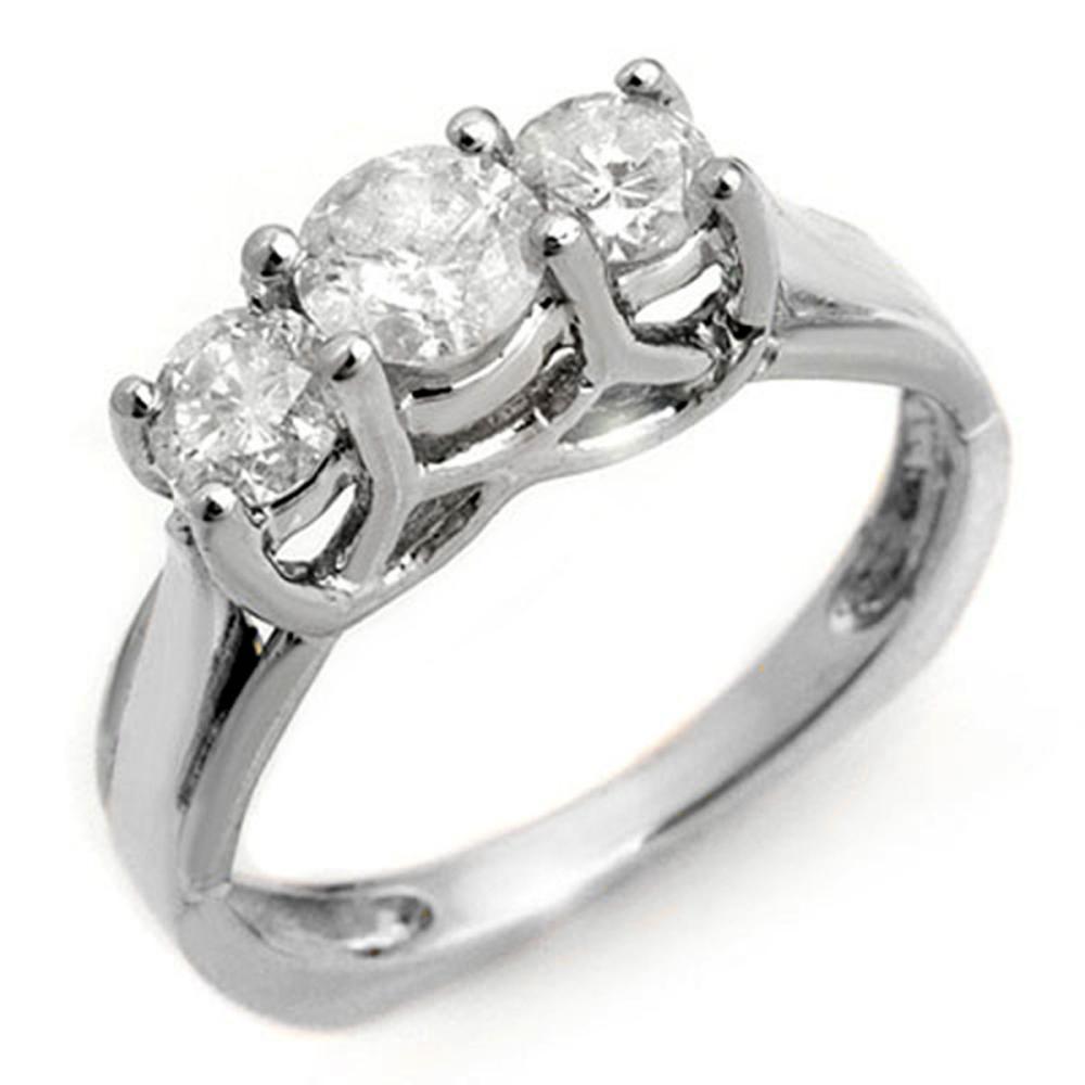 1.35 ctw VS/SI Diamond Ring 14K White Gold - REF-162H4M - SKU:10152