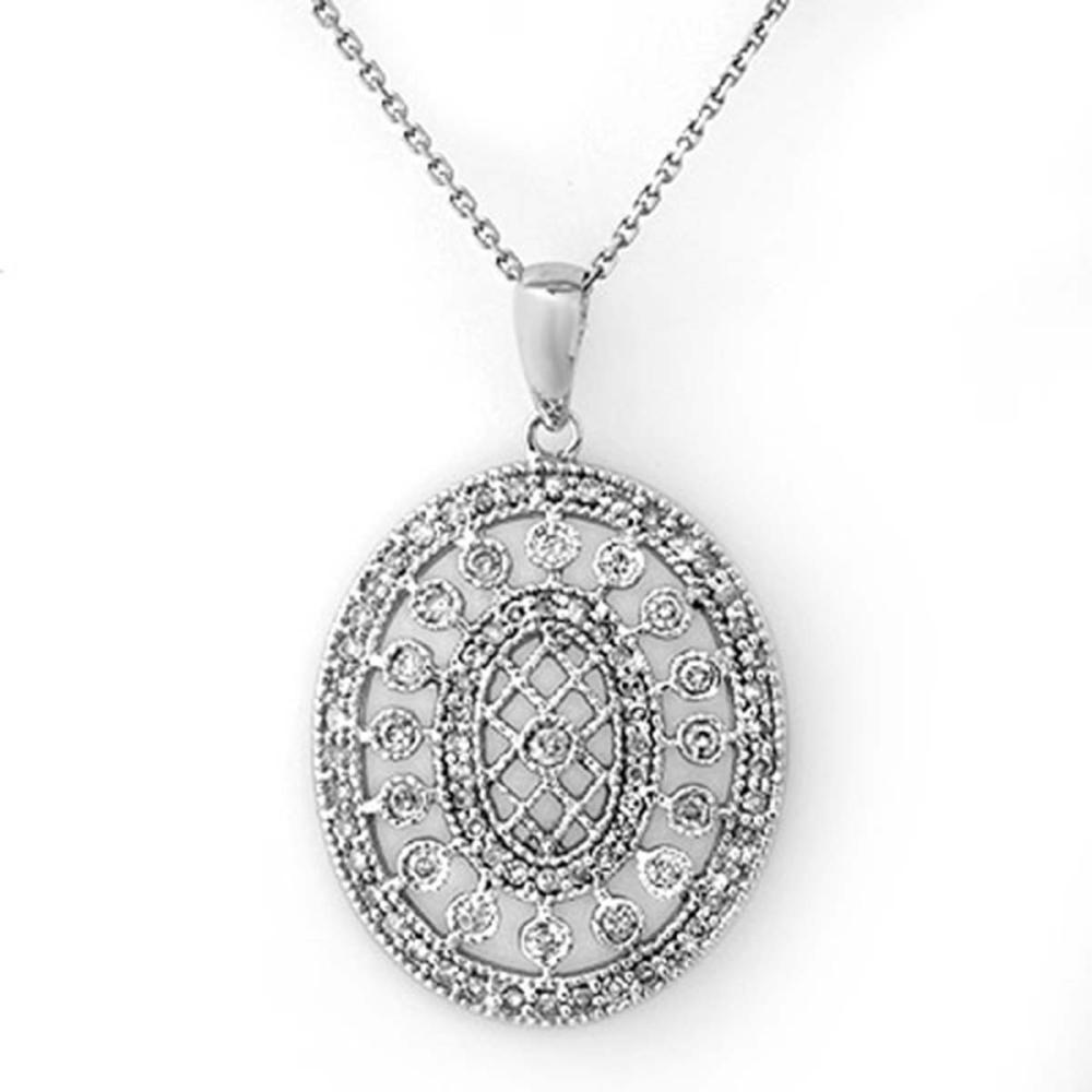 0.75 ctw VS/SI Diamond Necklace 14K White Gold - REF-89W3H - SKU:10097