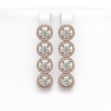 Lot 6174: 6.14 ctw Diamond Earrings 18K Rose Gold - REF-727A4V - SKU:42675