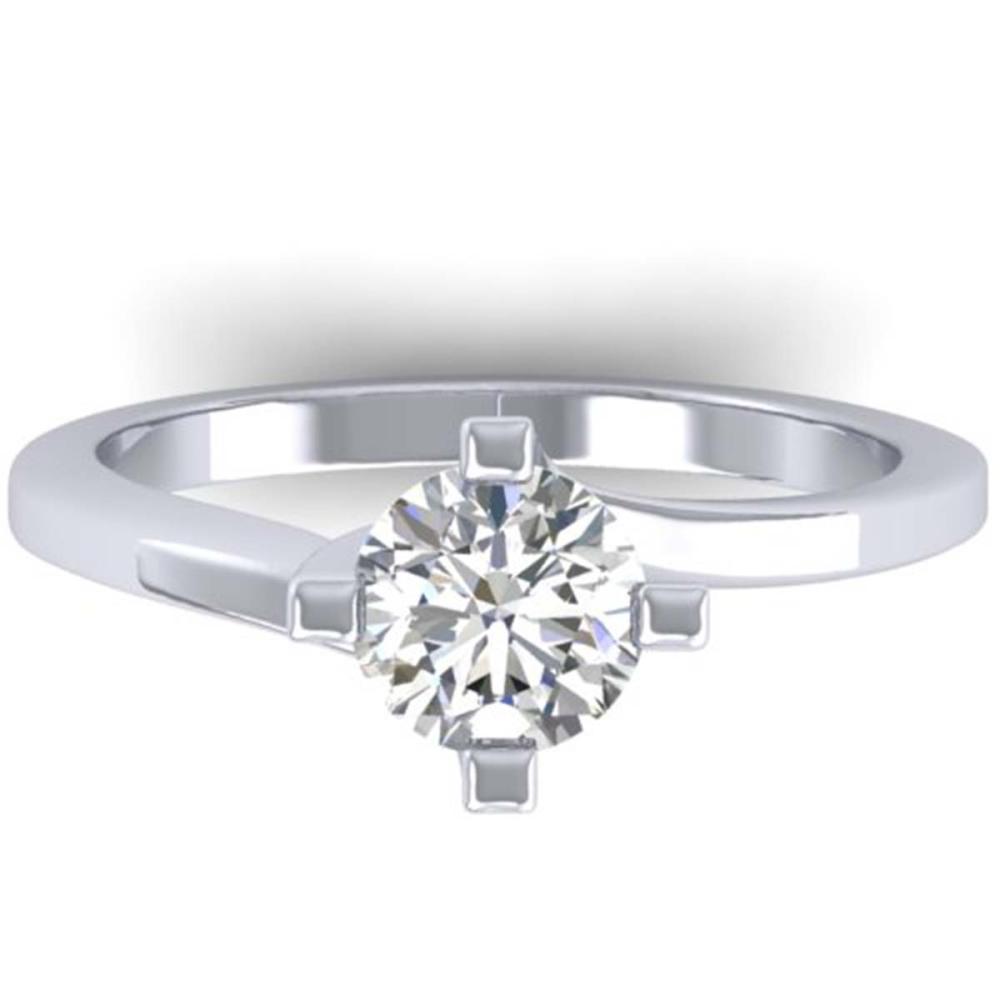 1 ctw VS/SI Diamond Solitaire Ring 14K White Gold - REF-295W2H - SKU:30396