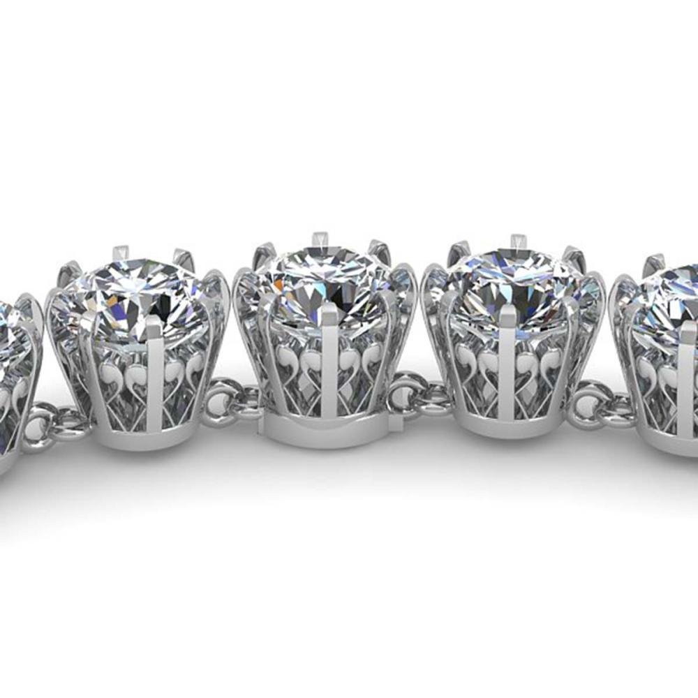 34 ctw SI Diamond Necklace 18K White Gold - REF-5415R2K - SKU:35793