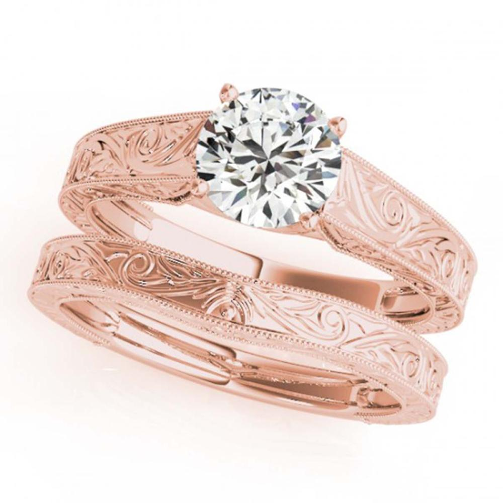 Lot 6177: 1.50 ctw VS/SI Diamond 2pc Wedding Set 14K Rose Gold - REF-491H2M - SKU:31872