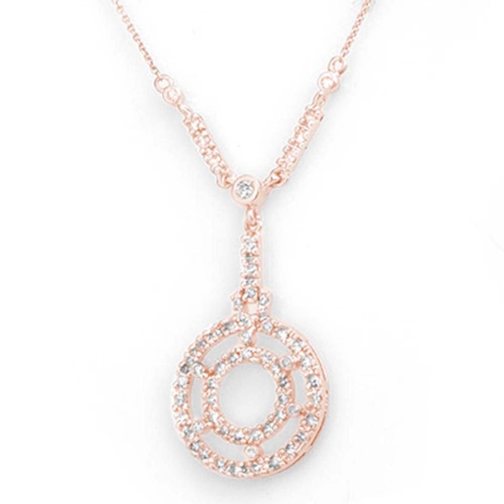 0.75 ctw VS/SI Diamond Necklace 14K Rose Gold - REF-83V6Y - SKU:11234