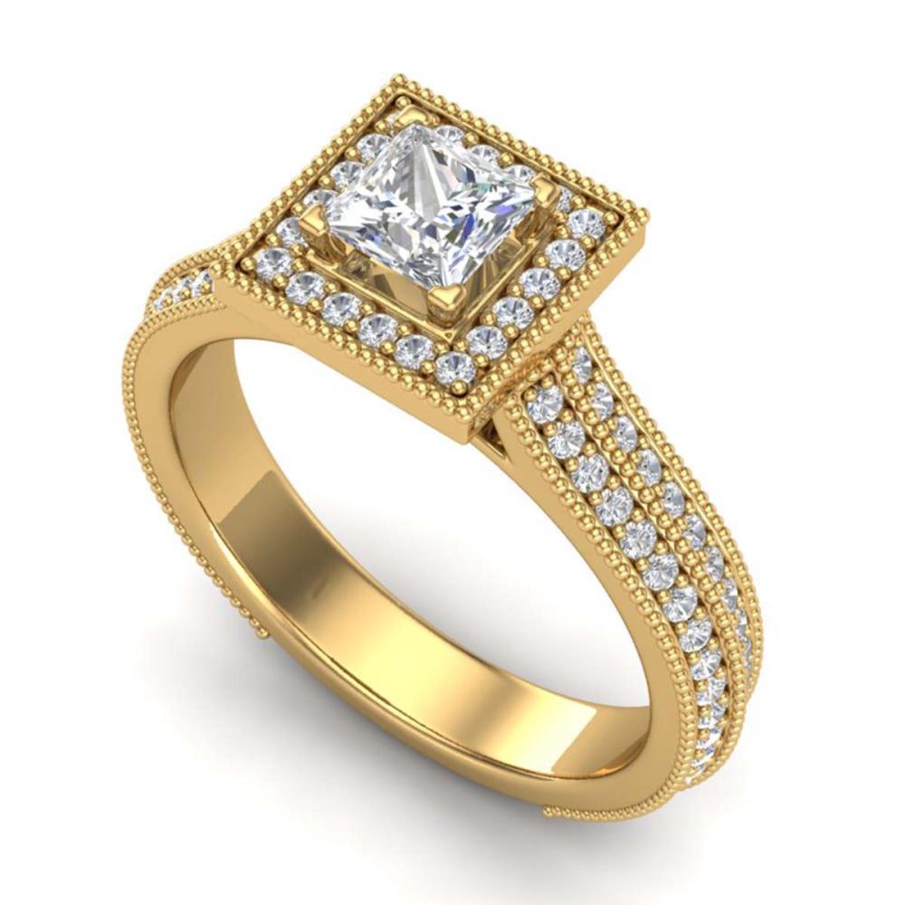 1.41 ctw Princess VS/SI Diamond Ring 18K Yellow Gold - REF-200K2W - SKU:37180