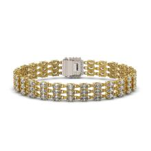 Lot 6092: 19.48 ctw Emerald Cut & Oval Diamond Bracelet 18K Yellow Gold - REF-2068R4K - SKU:46241