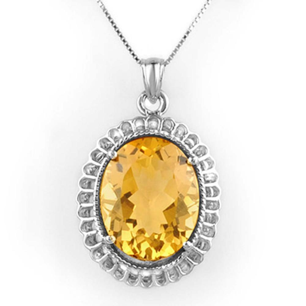 Lot 6246: 12.0 ctw Citrine Necklace 14K White Gold - REF-72Y4X - SKU:10326
