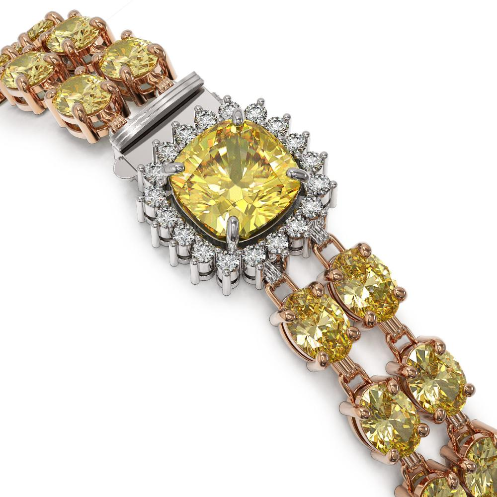 Lot 6086: 14.21 ctw Citrine & Diamond Bracelet 14K Rose Gold - REF-169M3F - SKU:45636