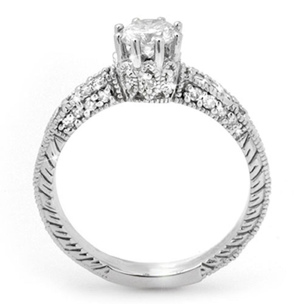 Lot 6109: 1.0 ctw VS/SI Diamond Solitaire Ring 18K White Gold - REF-129V3Y - SKU:13701
