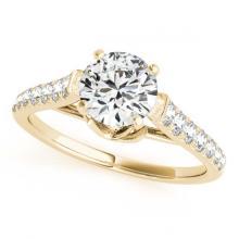 Lot 6118: 1.58 ctw VS/SI Diamond 2pc Wedding Set 14K Yellow Gold - REF-167X2R - SKU:31684