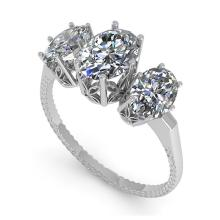Lot 6098: 2.0 ctw Past Present Future VS/SI Oval Diamond Ring 18K White Gold - REF-414W3H - SKU:35913