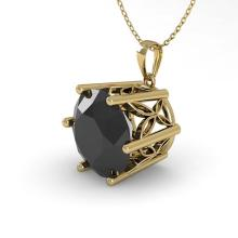 Lot 6268: 2 ctw Black Diamond Solitaire Necklace 18K Yellow Gold - REF-54A2V - SKU:35878