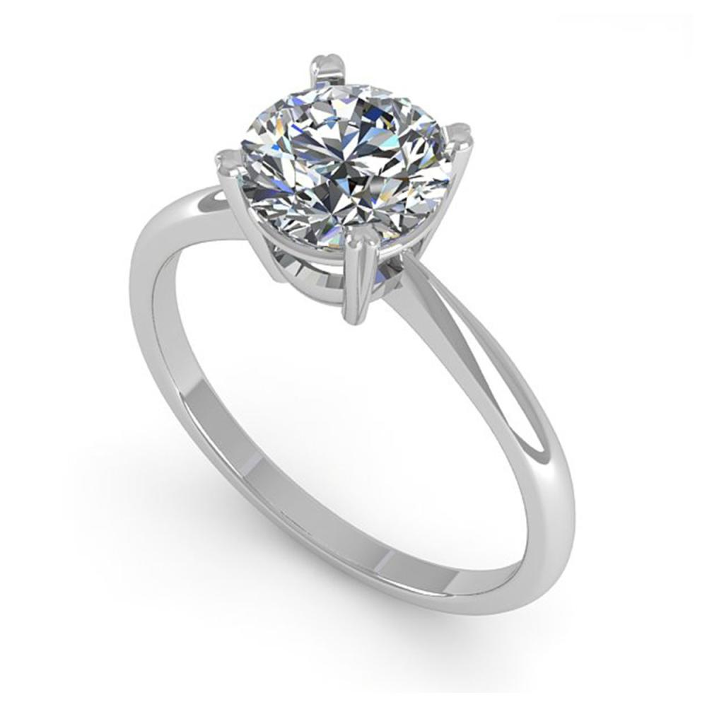 Lot 6142: 1.54 ctw VS/SI Diamond Ring 18K White Gold - REF-577H5M - SKU:32436