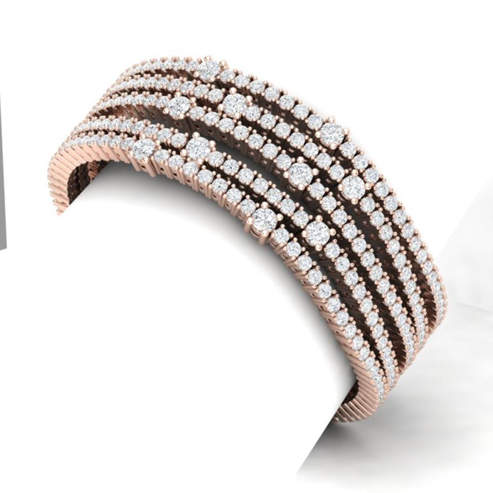 Lot 6288: 25 ctw VS/SI Diamond Bracelet 18K Rose Gold - REF-1560Y2X - SKU:39987