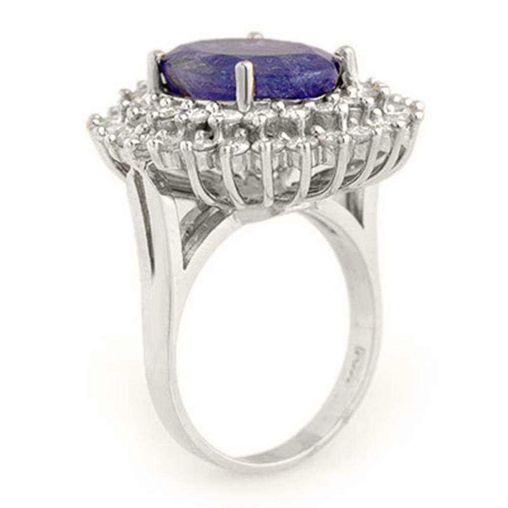 Lot 6185: 8.78 ctw Tanzanite & Diamond Ring 18K White Gold - REF-401R5K - SKU:13387
